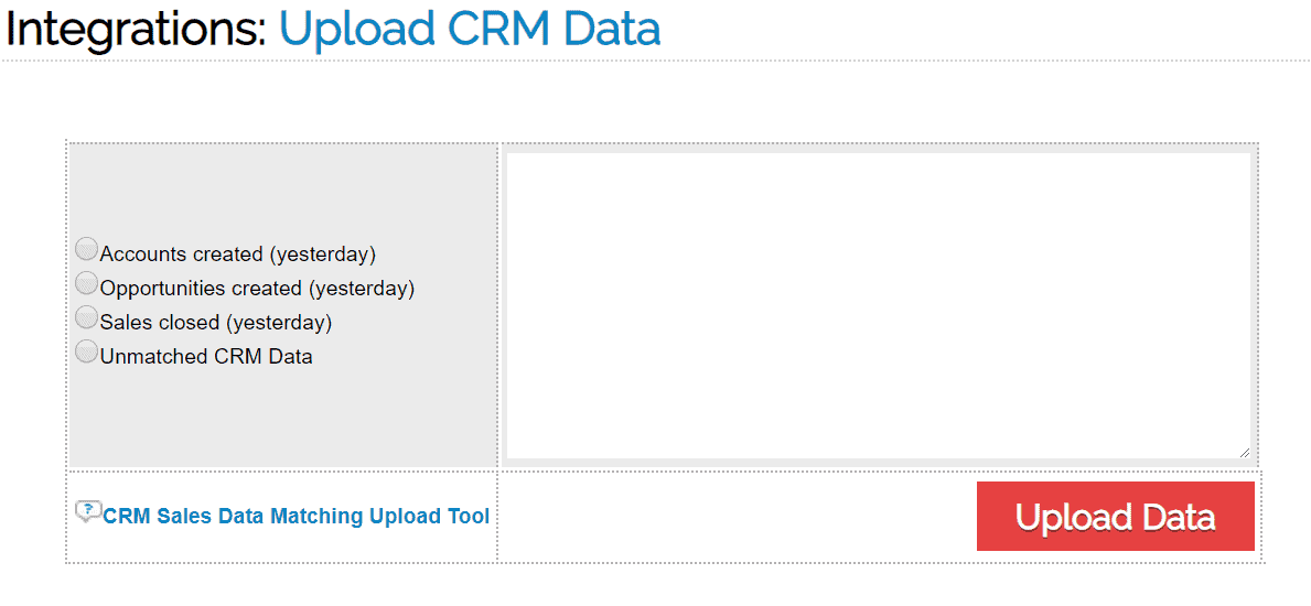 CRM Data Matching 1