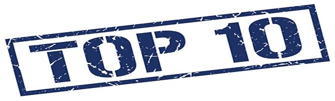Top 10 Blue Grunge Square Vintage Rubber Stamp