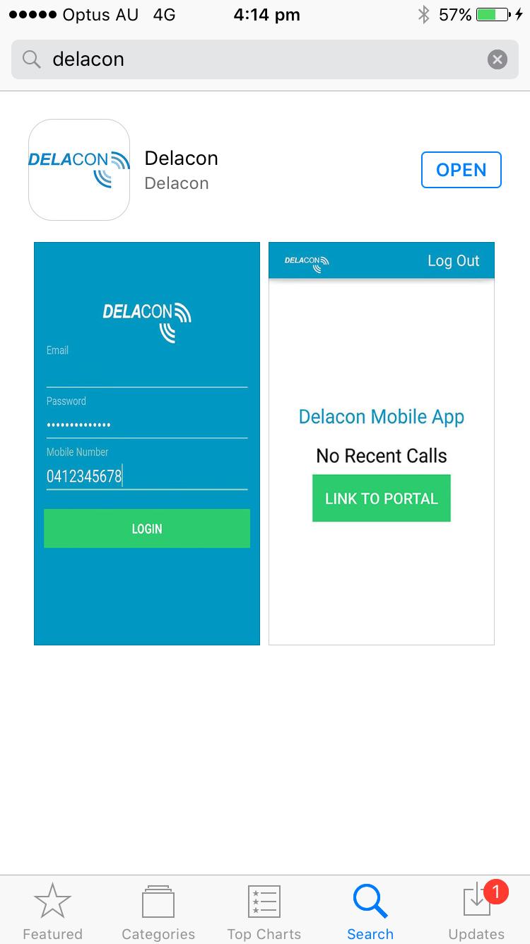 App Appstore Screen
