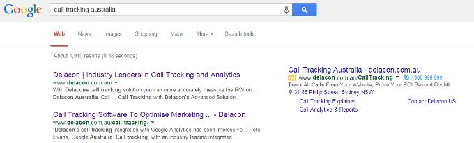 Organic Search As An Important Source Of Calls